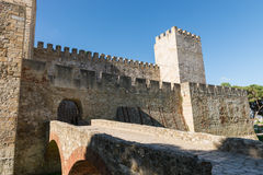 Sao Jorge Castle inside view. The castle  is located at the hist Stock Image