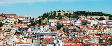 Sao Jorge Castle Royalty Free Stock Photos