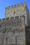 Sao Jorge Castle in Lisbon Stock Image