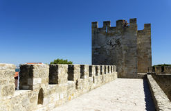 Sao Jorge Castle in Lisbon Royalty Free Stock Photos
