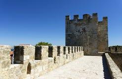 Sao Jorge Castle in Lisbon Royalty Free Stock Photos