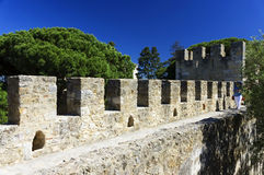 Sao Jorge Castle in Lisbon Stock Images