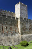 Sao Jorge Castle in Lisbon Royalty Free Stock Photography