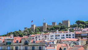 Sao Jorge Castle in Lisbon Royalty Free Stock Photo