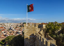 Sao Jorge Castle in Lisbon. Portugal, Lisbon, View of the Sao Jorge Castle Royalty Free Stock Images