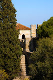 Sao Jorge Castle Lisbon St. George Arkivfoton