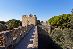 Sao Jorge Castle Lisbon St. George Royalty Free Stock Photo