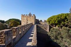 Sao Jorge Castle Lisbon St. George Fotografia Stock Libera da Diritti