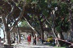 Sao Jorge Castle à Lisbonne Photo libre de droits