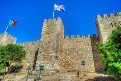 Sao Jorge del castello a Lisbona, Portogallo Fotografia Stock