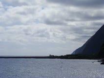 Sao_Jorge_island_Faja_do_Sto_Cristo Royaltyfri Fotografi
