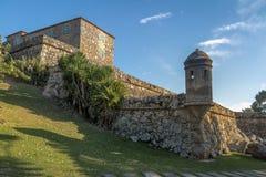 Sao Jose da Ponta Grossa Fortress - Florianopolis, Santa Catarina, Brasile fotografia stock libera da diritti