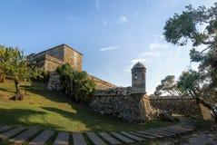 Sao Jose da Ponta Grossa Fortress - Florianopolis, Santa Catarina, Brasilien stockfotografie