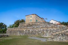 Sao Jose da Ponta Grossa Fortress - Florianopolis, Santa Catarina, el Brasil foto de archivo libre de regalías