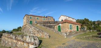 Sao Jose da Ponta Grossa Fortress - Florianopolis, Santa Catarina, el Brasil imagen de archivo libre de regalías