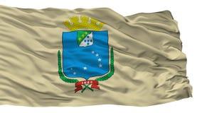 Sao Luis City Flag, Brasilien, lokalisiert auf weißem Hintergrund stock abbildung