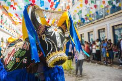 Sao Luis da cidade histórica, estado de Maranhao, Brasil Imagens de Stock Royalty Free