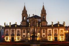 Sao Marcos Church à Braga à l'aube Photo stock