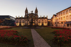 Sao Marcos Church in Braga at dawn. Braga, Norte Region, Portugal Stock Photos