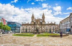 Sao Marcos Hospital Church Igreja gör Sao Marcos i Braga, Portugal royaltyfri fotografi