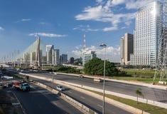 Sao marginal Paulo Brazil de Pinheiros Fotos de Stock Royalty Free