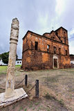 Sao Matias Church and Pillory stock image