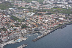Sao Miguel. Aerial view of Sao Miguel Island (Azores, Portugal stock photo