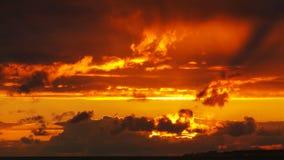 Sao Miguel Açores do por do sol atlânticos Foto de Stock Royalty Free