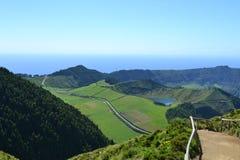Sao Miguel, Azores, Portugal. Lagoa de Sete Cidades, Azores, Portugal stock photo