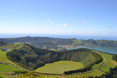 Sao Miguel, Azores, Portugal. Lagoa de Sete Cidades, Azores, Portugal royalty free stock images
