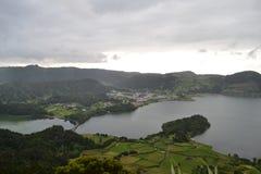 Sao Miguel, Azores, Portugal. Lagoa de Sete Cidades, Azores, Portugal stock image