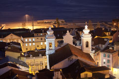 Sao Miguel Church at Night in Lisbon Stock Photo