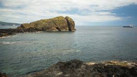 Sao Miguel island coast, the Azores in the Atlantic ocean Royalty Free Stock Photos