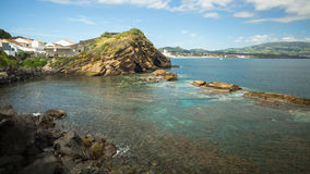 Sao Miguel island coast, Azores in Atlantic ocean. Royalty Free Stock Photography