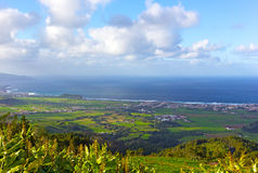Sao Miguel Island landscape in Azores, Portugal. Stock Photos