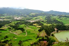 Sao Miguel island, near Furnas Lake, Azores. Portugal stock photography
