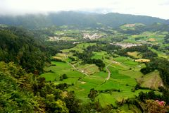 Sao Miguel island, near Furnas Lake, Azores. Portugal royalty free stock image