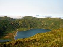 Sao Miguel Powulkaniczny krater Obrazy Royalty Free