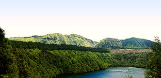 Sao miguel - sete cidades, lagoa de santiago Stock Images