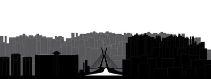 Sao paulo. Skyline in brasil black Stock Photo