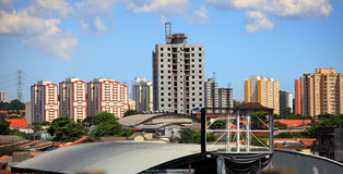 Sao Paulo. Panoramic view of Sao Paulo city and apartment buildings Stock Photography