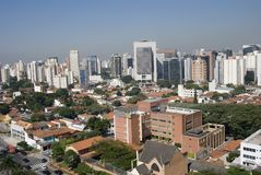 Sao Paulo. Top view from Sao Paulo City by day Stock Images