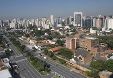 Sao Paulo. Top view from Sao Paulo City by day Royalty Free Stock Photography
