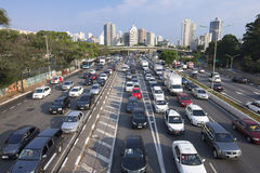 Sao Paulo afternoon rush hour commute Stock Image