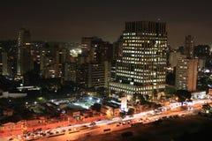 Sao Paulo alla notte Fotografia Stock