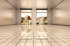 Sao Paulo Apartment. Interior visualisation of a empty Apartment in Sao Paulo. 3D rendered illustration Royalty Free Stock Photography