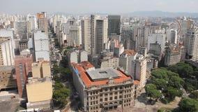 Sao Paulo, the biggest city in Brazil stock video