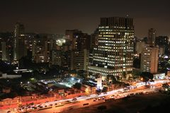 Sao Paulo bij nacht Stock Fotografie