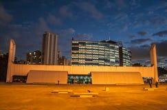 Sao Paulo, Brasilien, am 3. Mai 2011 Das Denkmal von Latein-Amerika ist eine kulturelle Mitte, politisch und die Freizeit, herein lizenzfreie stockfotografie