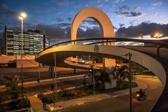 Sao Paulo, Brasilien, am 3. Mai 2011 Das Denkmal von Latein-Amerika ist eine kulturelle Mitte, politisch und die Freizeit, herein lizenzfreie stockbilder